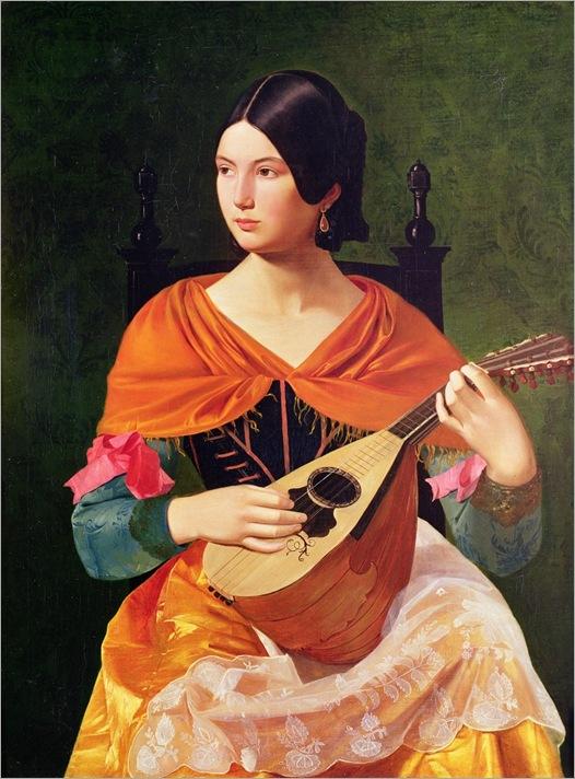 VEROSLAV-KARAS-young-woman-with-a-mandolin-