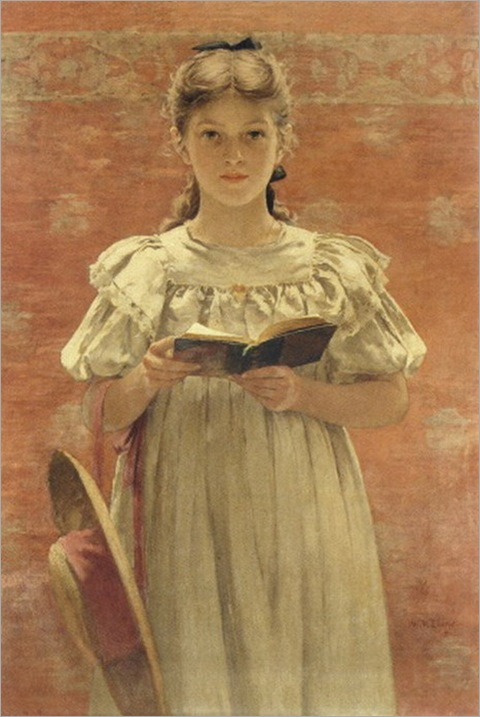Walter_MacEwen__Girl_Standing_With_Book