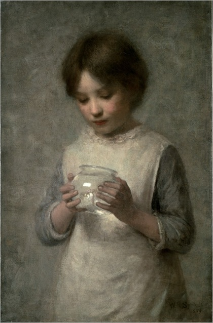 william-robert-symonds-girl-with-a-silver-fish