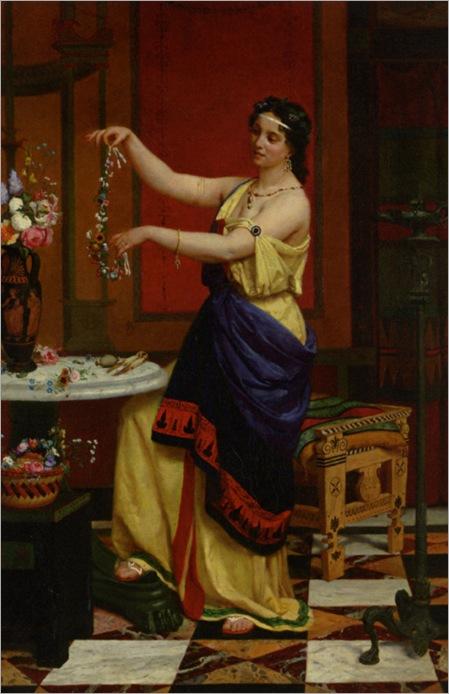 Zier_Francois_Edouard_Le_Collier_de_Fleurs_1873