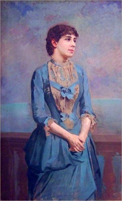Antoni Caba, Portrait de Lluïsa Dulce i Tresserra, marquise de Castellflorite 1880