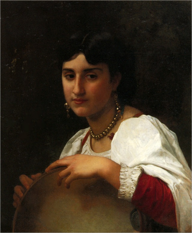 Bouguereau_William_L-_italienne_au_tambourin