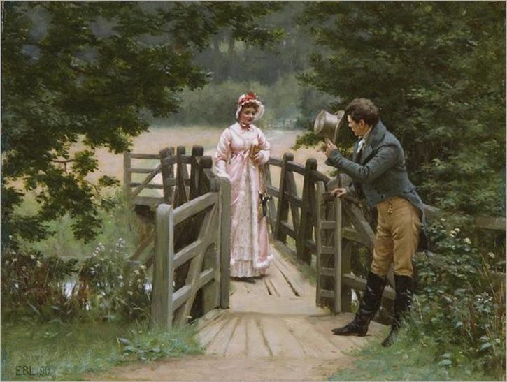edmund blair leighton, the gallant suitor