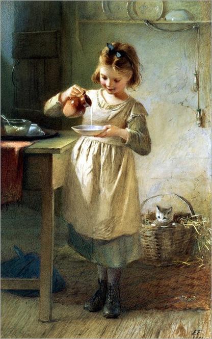 Emily-Farmer-girl-with-kitten