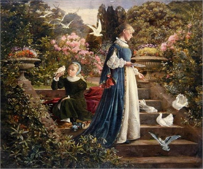 francis-sidney-muschamp-feeding-the-doves