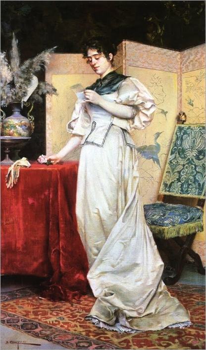 John Califano (1864-1924)  The Love Letter 1890