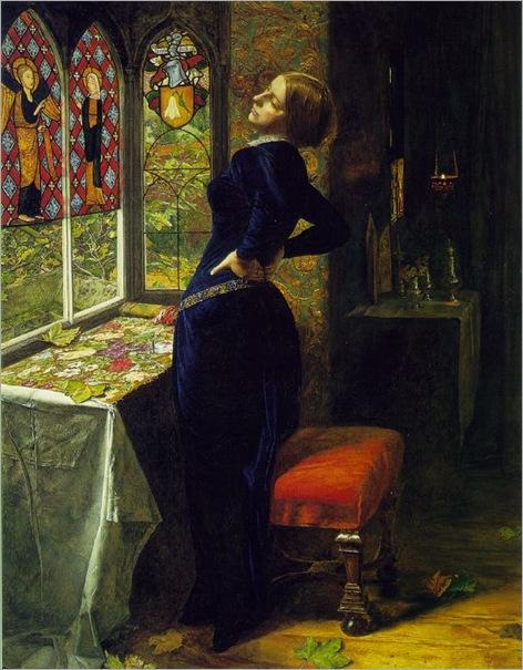 John Everett Millais - Mariana in the Moated Grange
