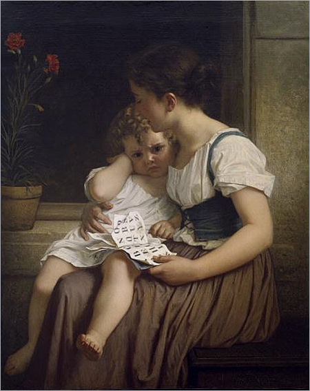 Merle_-_Young_Woman_And_Child
