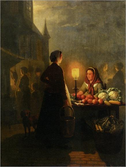 Schendel_Petrus_Van_Market_Stall_By_Moonlight