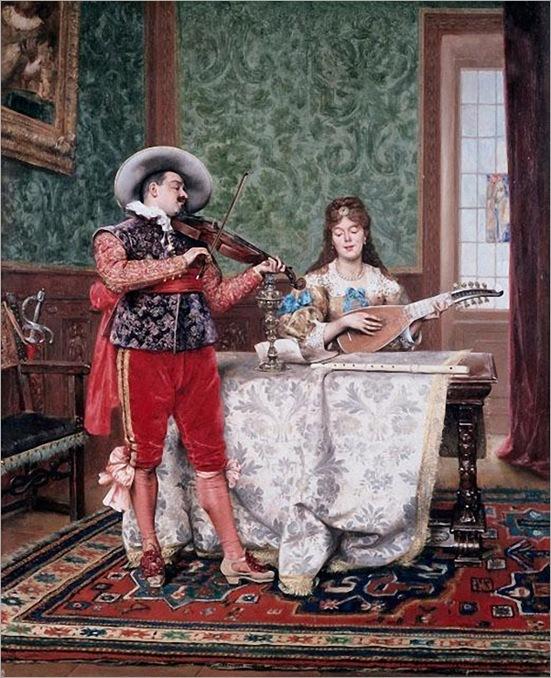 06. Lesrel, Adolphe-Alexandre - The Duet, 1888
