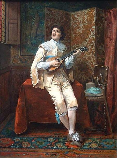 Cossman_Herman_Maurice-Man_playing_with_his_mandolin