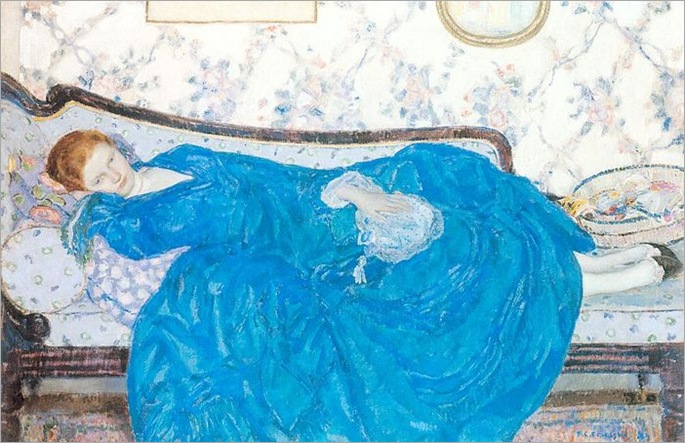 Frieseke_Frederick_C_The_Blue_Gown