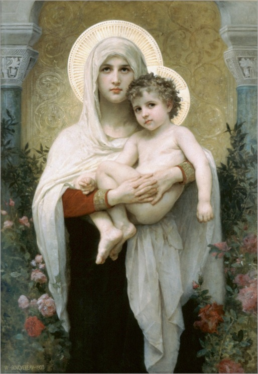Mary The_Madonna_of_the_Roses_William-Adolphe_Bouguereau