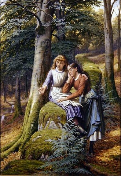 two-girls-in-a-landscape-EdwardCharlesBarnes
