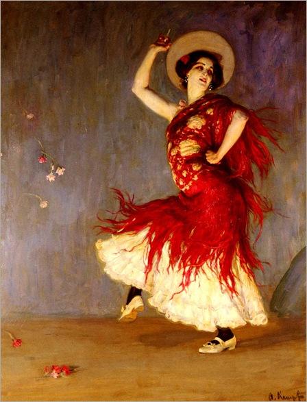 a_flamenco_dancer-ArthurKampf-1864-1950