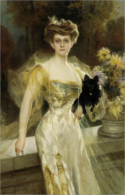 François_Flameng-A_Portrait_of_Mrs_Meunier_1907