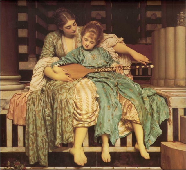 Frederic Leighton - Music Lesson (1877)