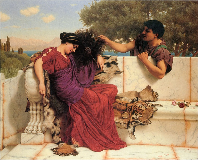 john-william-godward-the-old-story