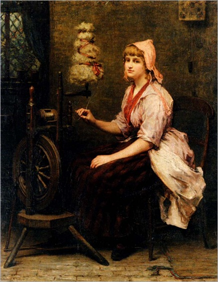 the_girl_at_the_spinning_wheel-Katherine-D.M.Bywater