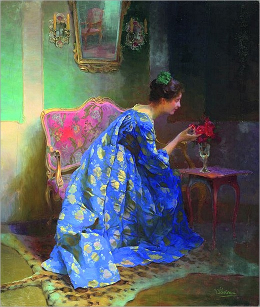 Viktor Schramm (alemão, 1865-1929)_Dame_in_blauem_Kleid