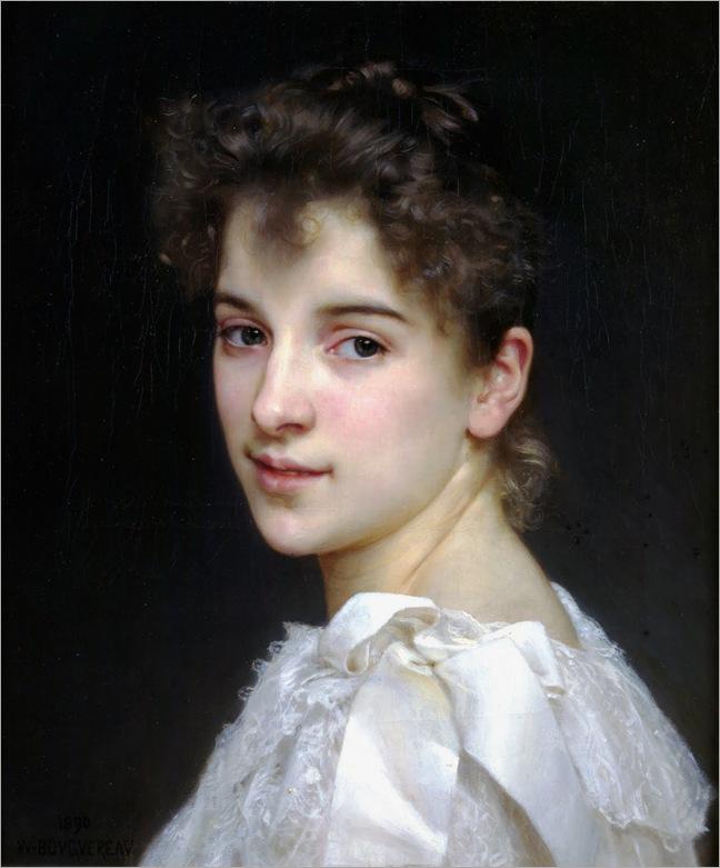 William-Adolphe-Bouguereau,-Portrait-of-Gabrielle-Cot,-1890