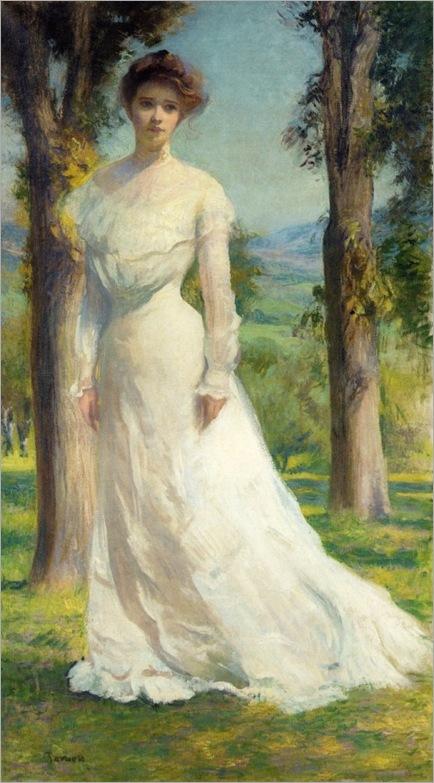 3 Edmund Charles Tarbell (1862 – 1938)    Margaret Under the Elms 1895