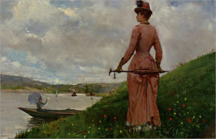 Chocarne_Moreau_Paul_Charles_Promenade_sur_le_Bond_de_L_Oise_1884