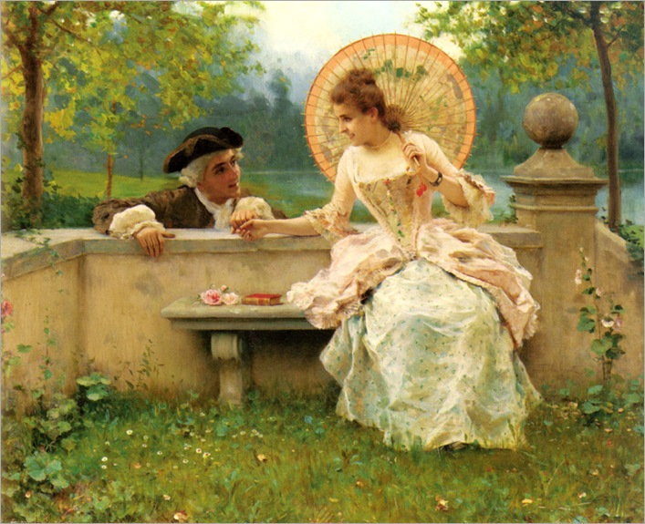 Federico_Andreotti_-_A_Tender_Moment_in_the_Garden