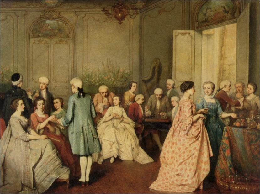 Fichel_Benjamin_Eugene_Sotree_in_a_Rococo_Interior_1855