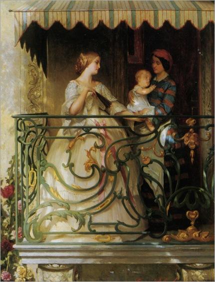 Jonghe_Gustave_Leonhard_de_On_The_Balcony
