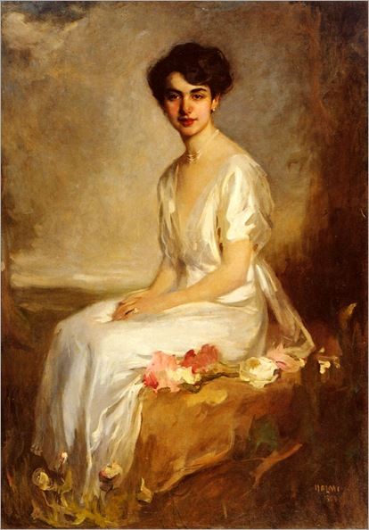 1909_Halmi_Arthur_Lajos_-_Young_Woman_In_A_White_Dress