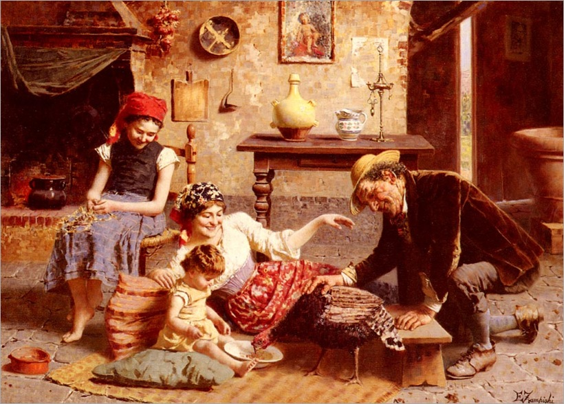 EugenioZampighi-a_happy_family