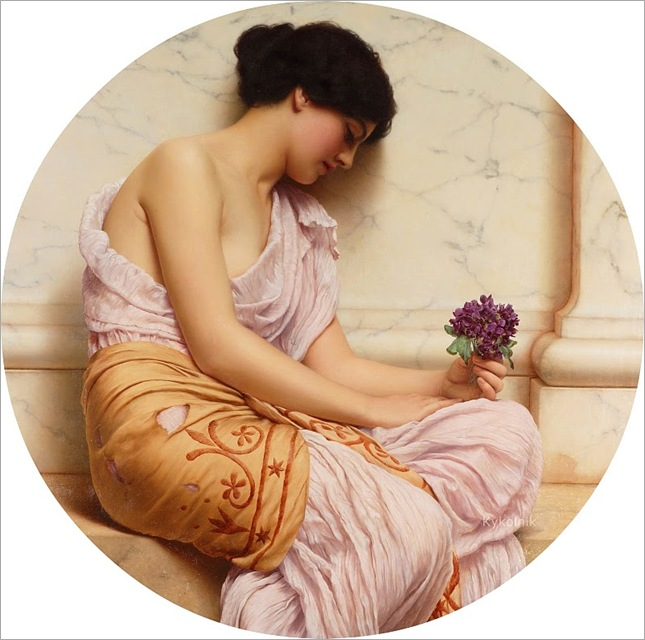 John William Godward (British 1861-1922) Violets, sweet violets