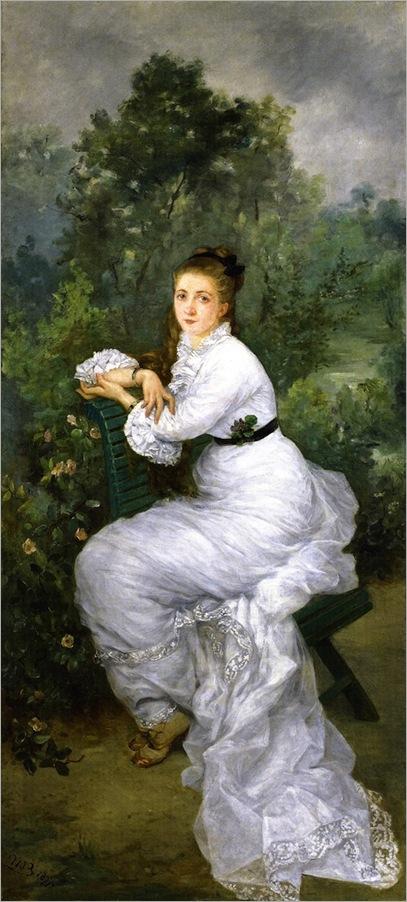 Marie Bracqemond - 1877-woman-in-the-garden