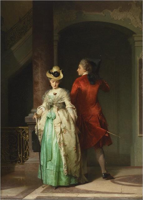 Pancraz Koerle (1823-1875) - Flirtation