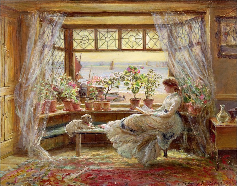 reading-by-the-window-hastings-CHARLES-JAMES-LEWIS