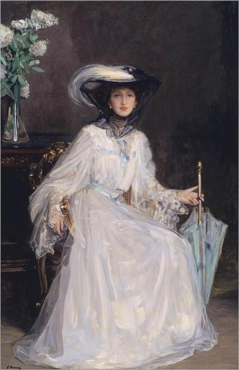 Sir John Lavery (1856-1941)-Evelyn-Farquhar
