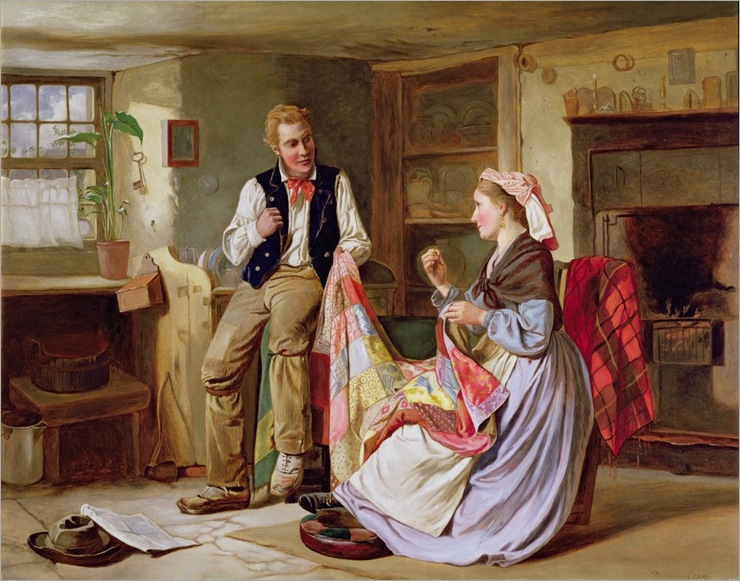 william-henry-midwood-the-patchwork-quilt