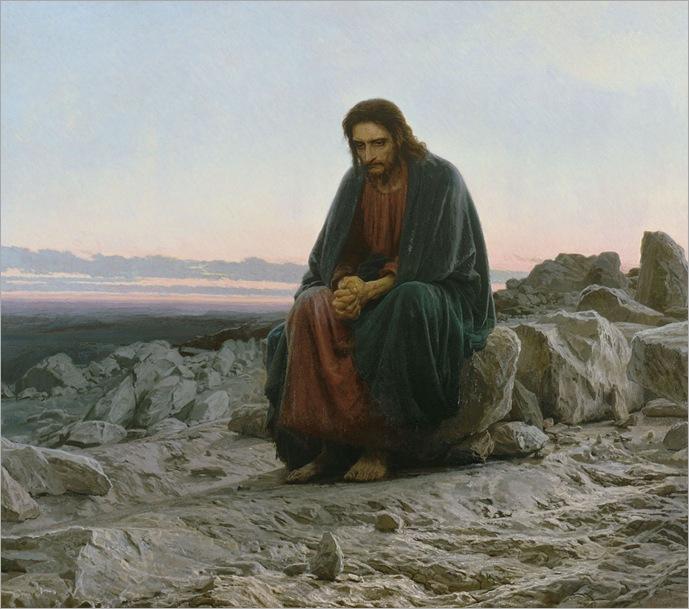 IvanKramskoy - Christ in the desert