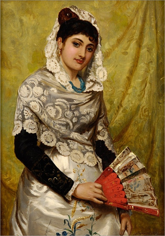 John_Haynes_Spanish_Woman_with_a_fan_1878
