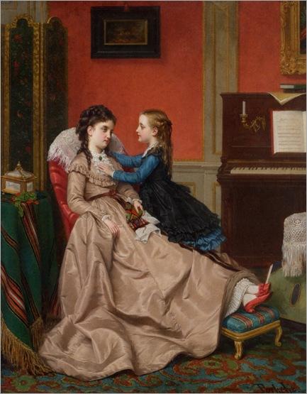 Portielje_Jan_Frederik_Pieter_Mothers_Darling_1870