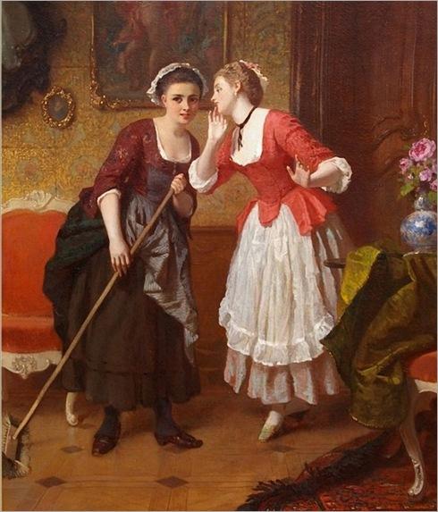 wilhelm-amberg_german_1822_1899_gossiping_maids