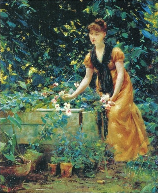 7 Francis Coates Jones (American artist, 1857-1932) In the Garden 1890 (2)