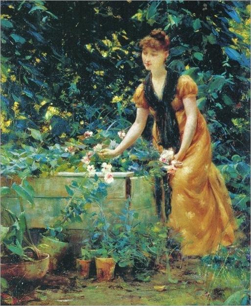 7 Francis Coates Jones (American artist, 1857-1932) In the Garden 1890 (2)