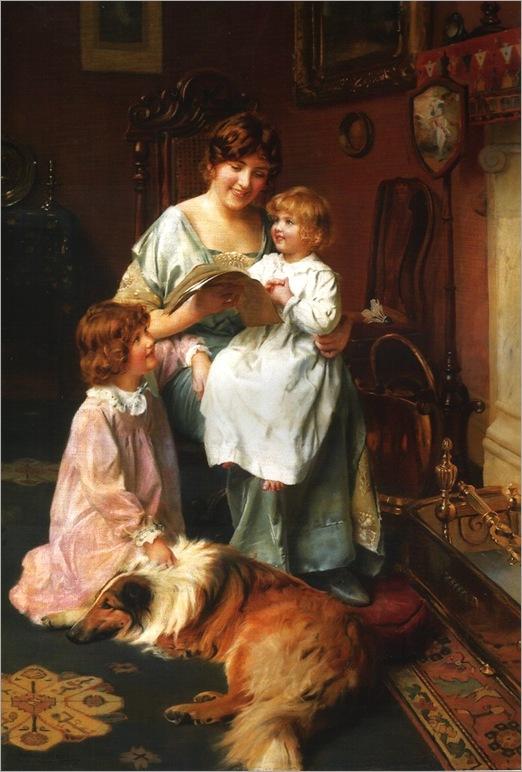arthur-john-elsley(1860-1952)-bedtime-story
