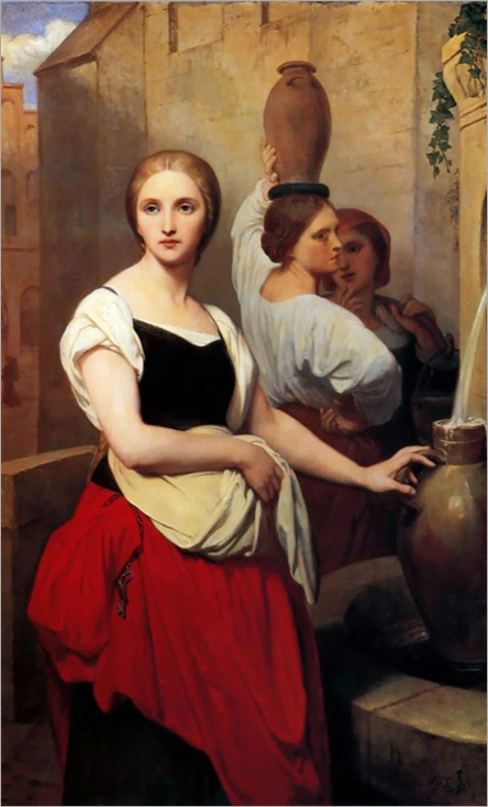 AryScheffer(1795-1858)margaret_at_the_fountain