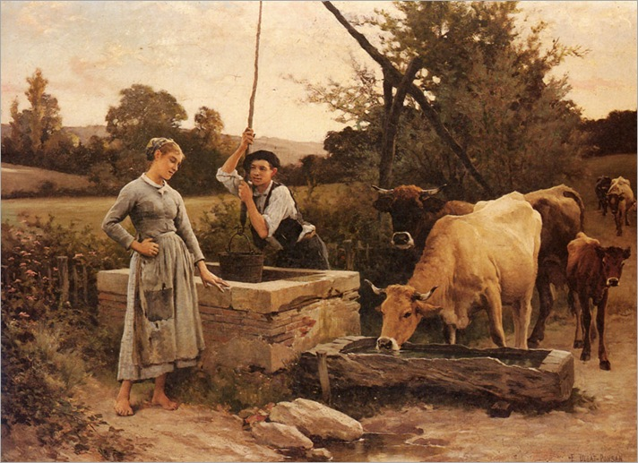 at_the_well-Edouard-Bernard-Debat-Ponsan (1847-1913)