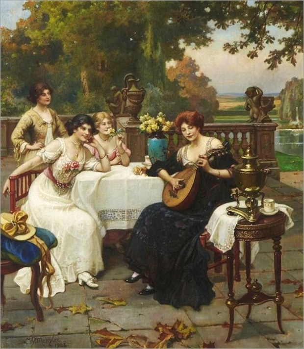 musical-entertainment-on-the-terrace-Wilhelm-Menzler