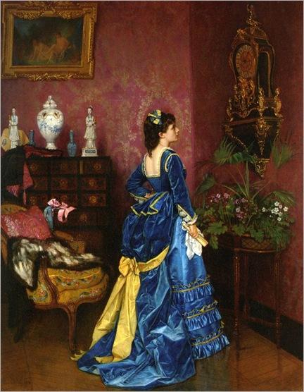 Toulmouche_Auguste_The_Blue_Dress_1872