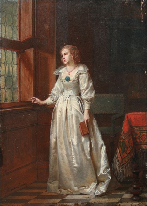 Wladyslav Bakalowicz (1833-1904) - Waiting for the return